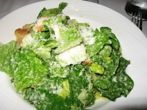 Caesar salad at the palm